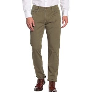 NWT PAIGE Normandie Chino Pants GREEN - 30